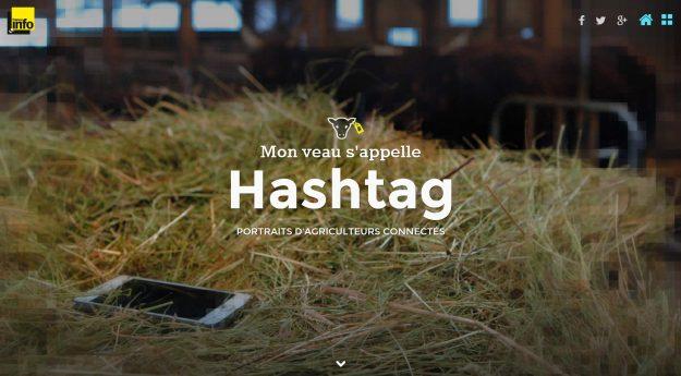 Mon veau s'appelle Hashtag - Crédits France Info - La Déviation