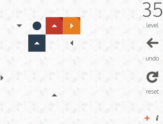 Copie d'écran d'une partie de Game about squares. Pour jouer c'est là-bas que ça se passe http://gameaboutsquares.com/ (et toujours sans pub).