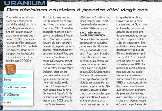 Scan du dossier Alerte à la pénurie, comment relever le défi publié en mai 2012 dans Science et vie, pp 52-71.