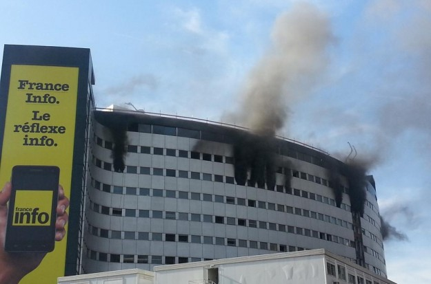 Incendie Radio France - direct France Info