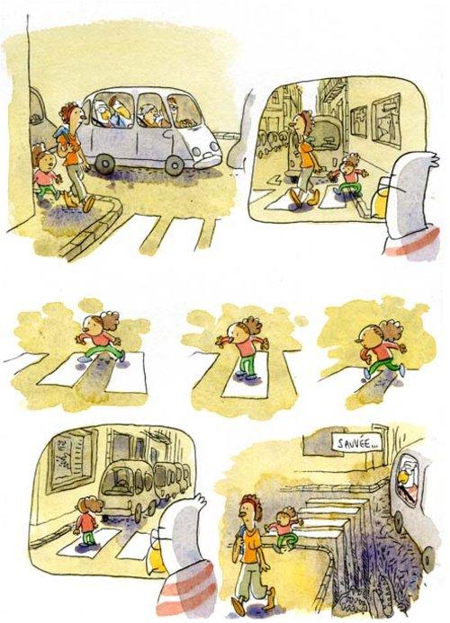 Passage piéton - Les Petits riens de Lewis Trondheim tome 7 - Un arbre en furie - La Déviation