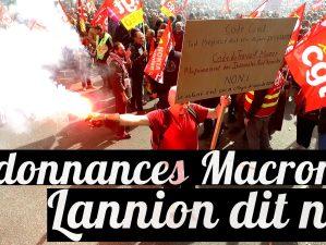 Manifestation contre les ordonnances Macron à Lannion - 12 septembre 2017