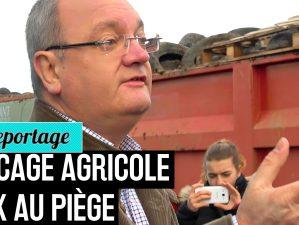 Manif agricole FDSEA Intermarché Saint-Agathon - La Déviation