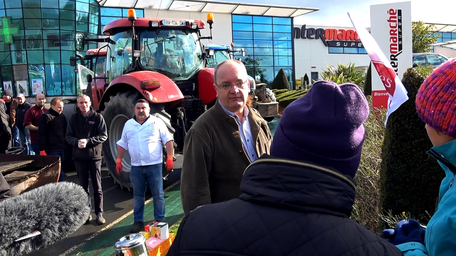 Manif agricole Saint-Agathon FDSEA - La Déviation