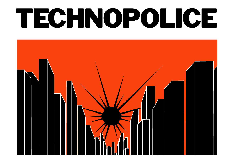 200410 - Technopolice illustration de couverture La Quadrature du Net- La Déviation