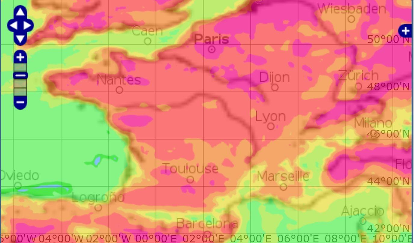 200419 - Carte pollution ammoniac Copernicus Ensemble 24 avril 2020 - La Déviation