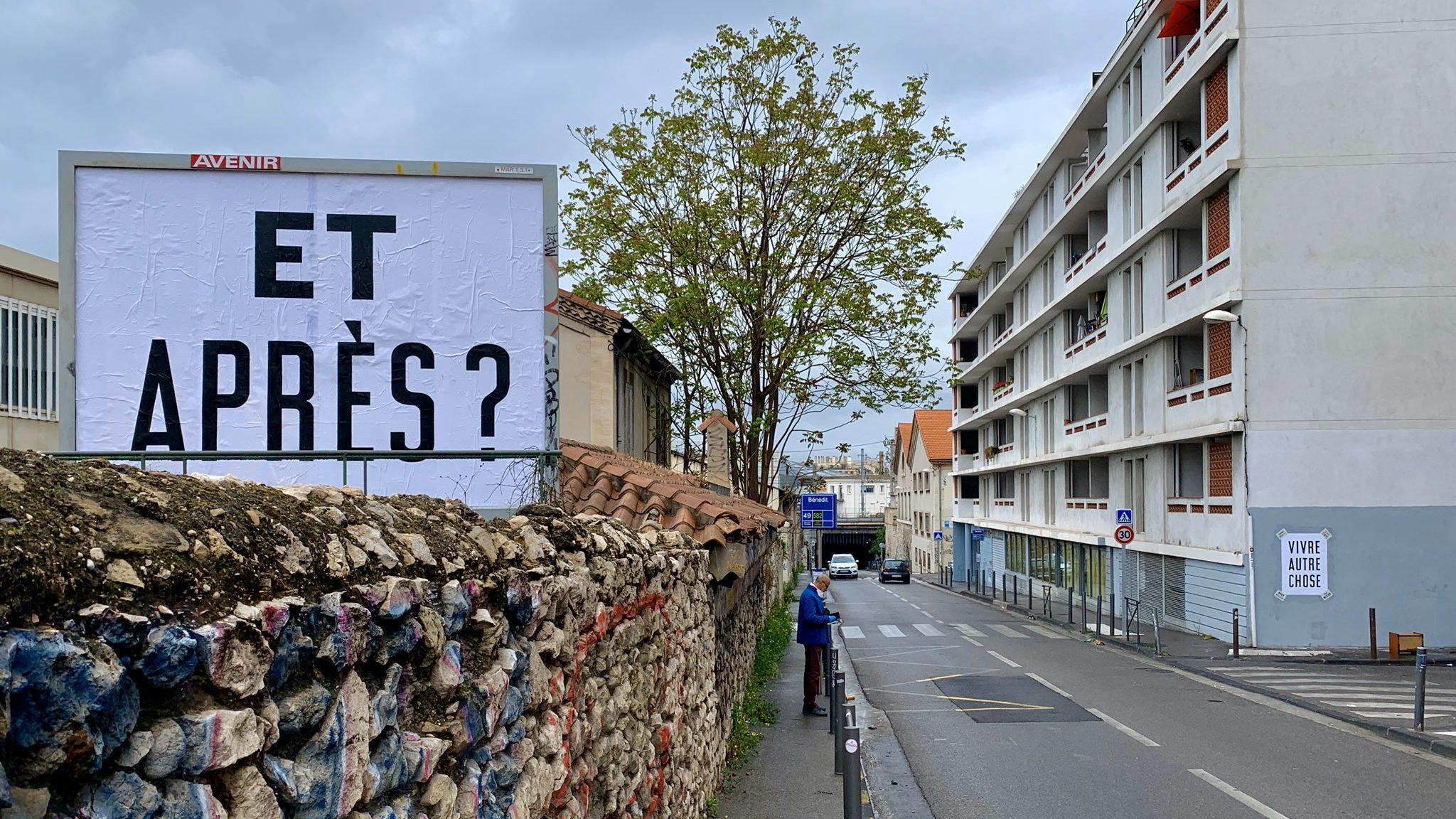 200427 - Et après vivre autre chose collage publicitaire détourné à Marseille by Julien Girardot - La Déviation