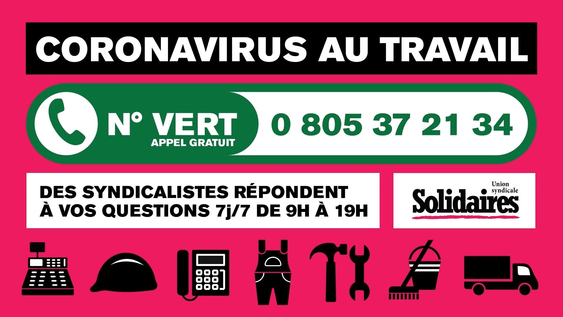 200427 - Capture d'écran clip Solidaires numéro vert chômage partiel - La Déviation