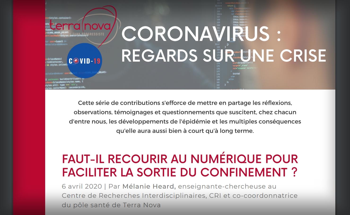 200427 - Rapport Terra Nova Coronavirus Regards sur une crise - La Déviation